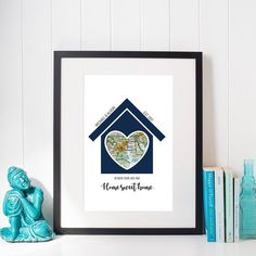 Personalized Housewarming Gifts, Our First Home, Personalized Home Map, Home Sweet Home, First Home