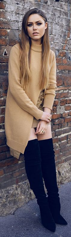 Shades Of Camel And Black Fall Inspo  women fashion outfit clothing style apparel @roressclothes closet ideas