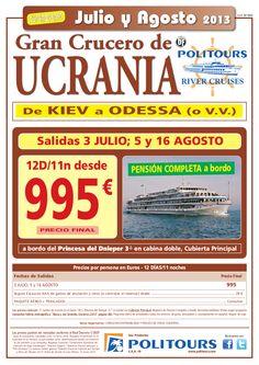 Gran Crucero de UCRANIA, salidas 5 y 16/08 (12d/11n) p.f. 995€ superoferta - http://zocotours.com/gran-crucero-de-ucrania-salidas-5-y-1608-12d11n-p-f-995e-superoferta-5/