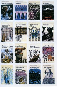 The Penguin Series of Shakespeare Plays with covers by David Gentleman part 1.