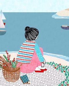 """2,036 Beğenme, 10 Yorum - Instagram'da Manon de Jong (@monann_illustration): """"Illustration from the book 'El mundo de las emociones', published by @kireei_"""""""