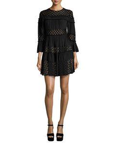 TD2GG cinq a sept Octavia Tiered Lace Dress