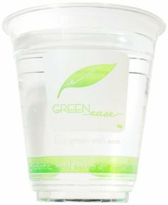 """IFN Green 25-2012-98 Green Ease PLA Cold Cup, 12 oz Capacity, 3.85"""" Diameter x 4.10"""" Height (Case of 1000) by IFN Green. $81.86. IFN Green Ease PLA cold cup is sturdy and strong. Great for smoothies, beer and soda. Biodegradable and compostable. Made from Natureworks Ingeo polylactic acid polymer (PLA). Meets ASTM D6400 standards. Non petroleum-based polylactic acid polymer (PLA)stic. Green design highlights green features. Environmentally sustainable alternat..."""
