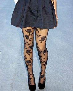 d25aeace745 Victoriana Rose Lattice Design Opaque Tights Lolita Steampunk Harajuku  Gothic