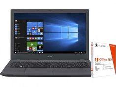 """Notebook Acer Aspire E5 Intel Core i5 - 4GB 1TB LED 15,6"""" + Pacote Office 365…"""