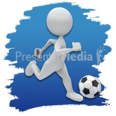 Stick Figure Soccer Icon PowerPoint Clip Art