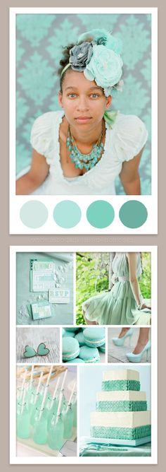 Mint wedding inspiration  #Wedding Colors, #Perfect Palette, #Wedding Color Palettes, #Palette Library, #Wedding Colors, #Wedding Colours, #Wedding Inspiration, #Wedding Color Scheme,#Gray, #Red, #Blue, #Green, #Yellow, #Orange, #Plum, #Teal, #Pink, #Peach, #Navy Blue, #Bridesmaid, #Bride, #timelesstreasure