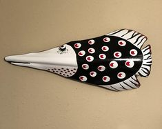 Your place to buy and sell all things handmade – surfcasting Palm Tree Crafts, Palm Tree Art, Palm Trees, Palm Frond Art, Palm Fronds, Fish Art, Fish Fish, Wood Fish, Ceramic Fish