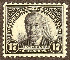 Woodrow Wilson 1925 Issue-17c - U.S. presidents on U.S. postage stamps - Wikipedia, the free encyclopedia