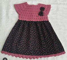 Baby Boy Knitting Patterns, Crochet Baby Dress Pattern, Baby Girl Crochet, Crochet For Kids, Baby Knitting, Frocks For Girls, Baby Kind, Little Girl Dresses, Toddler Dress