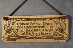 Lord of the Rings LOTR Arwen Quote Small by HeatherwoodCrafts