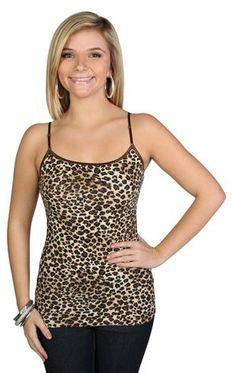 Cheetah print basic cami