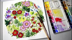 Magical Jungle Coloring with Watercolor Paints Johanna Basford