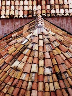 Tiled Roof Detail in Old Town Photographic Print by Richard l'Anson at Art.com