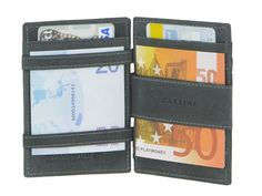 Garzini MAGIC WALLETS Essenziale - Leder RFID Minibörse Kartenetui - 4 Farben