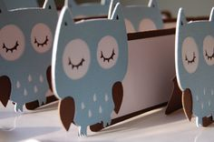 Owl Food Labels Owl Place Cards Seating Cards Owl by GiggleBees, Owl Shower, Baby Shower Cards, Baby Boy Shower, Shower Ideas, Owl Parties, Owl Birthday Parties, Baby Whale, Baby Owls, Owl Labels