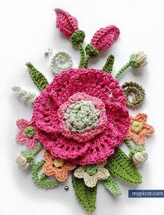 Lory Crochê: Passo a Passo Bouquet para aplicação