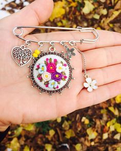 love you to the moon and back Necklace. CZ Embedded Dainty Gold Plated moon and sun charms. **Each Sun, Moon and Star Necklace Sold SEPARATL Hand Embroidery Flowers, Hand Embroidery Stitches, Embroidery Jewelry, Diy Embroidery, Star Jewelry, Beaded Jewelry, Back Necklace, Hand Art, Clay Earrings
