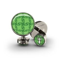 Houndstooth Green Union Link Wurkin Stiffs Fashion Cufflinks | Ewin's Dry Goods