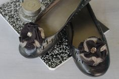Black and Tan Sparkle Shoe Clips by NewCreatures on Etsy, $18.00