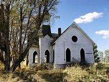Abandoned Church Grass Valley Oregon