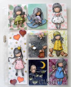 Example of a way to stamp and color something your Pocket Letter Pal doesnt have! Atc Cards, Card Tags, Pocket Scrapbooking, Scrapbook Paper, Pocket Pal, Pocket Letters, Artist Trading Cards, Amigurumi Doll, Kids Cards