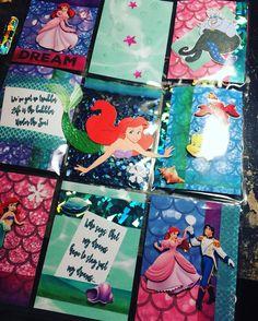A sneak peek at my #littlemermaid #pocketletter I made this week #inkypinkyboo always looking for new #pocketletterpals