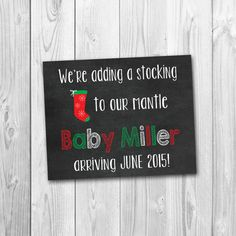 A fun and creative way to announce your big news this Christmas ;) Perfect photo prop for expectant parents to hold!    You will receive a