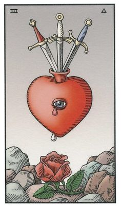 Three of Swords - Alchemical Tarot