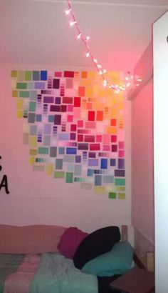 wall art made with paint samples from home depot. | Art | Pinterest