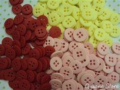 Kit 20 Botões Fosco em 3 cores