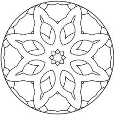 mandala-15  online coloring pages