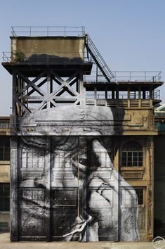 The Wrinkles of the City - Shanghai | JR - Artist  Action in Shanghai, Rony Zhuang, Chine, 2010