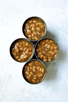 Kicked-Up Canned Baked Beans is an easy and delicious way to make ordinary canned baked beans taste as though you made them from scratch! #beans #bakedbeans #sidedishes #beansidedishes Canned Baked Beans, Recipe Please, Original Recipe, Casserole Dishes, Side Dishes, Yummy Food, Baking, Easy Dinners, Recipes