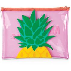 Sunnylife Clear Beach Pouch (€11) ❤ liked on Polyvore featuring bags, handbags, clutches, accessories, pineapple, pouch purse, clear pouch, beach purse, green purse and pouch handbags