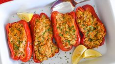 Mediterranean Tuna & Quinoa Salad Recipe | Bumble Bee Seafoods Stuffed Mushrooms, Stuffed Peppers, Lemon Wedge, Quinoa Salad Recipes, Tuna, New Recipes, Seafood, Chicken Recipes, Tasty