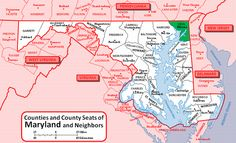 Map of Maryland highlighting Cecil County