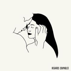 You make me feel safe❤️ WINTER SALES  -10% off everything  Discount code : WS17  regardscoupables.com    #regardscoupables  #eroticart  #eroticdrawing
