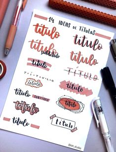 Are you looking for bullet journal fonts to add creative flair to your journal and improve your handwriting? These fabulous fonts for your bullet journal are perfect for the bujo addict! Bullet Journal School, Bullet Journal Titles, Bullet Journal Banner, Bullet Journal Lettering Ideas, Journal Fonts, Bullet Journal Notebook, Bullet Journal Aesthetic, Lettering Tutorial, Hand Lettering