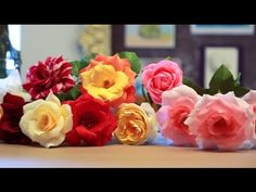 Crepe Paper Roses Tutorial - YouTube Learn how to make crepe paper roses from the experts as Castle in the Air. Lynn Dolan teaches crepe paper flower making at Castle in the Air, and in this DIY she shares her tips and tricks for crafting gorgeous bouquets of paper roses. All supplies are available from the Castle in the Air online shoppe: https://www.castleintheair.biz/shoppe