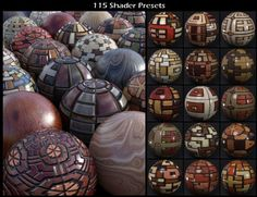 DG Iray Deco Wood Shaders | 3D Models for Poser and Daz Studio