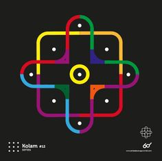 Kolam Series (Observation & interpretation )A Kolam is a geometrical line drawing composed of curved loops, drawn around a grid pattern of dots in South india. Line Drawing, Logos, Pattern, Telugu, Behance, Videos, Logo, Patterns, Model