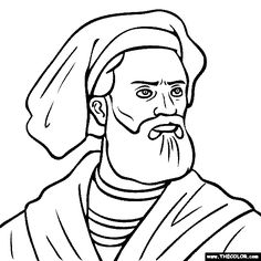 marco polo coloring page