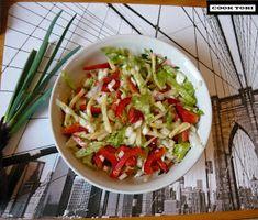 Kuchnia PROzdrowotna: Surówka z pędami bambusa i papryką Cabbage, Meat, Chicken, Vegetables, Cooking, Food, Bamboo, Kitchen, Essen