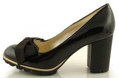 czółenka baldowski d01172/3665 czarny lakier Me Too Shoes, Peeps, Peep Toe, Model, Fashion, Zapatos, Moda, Fashion Styles