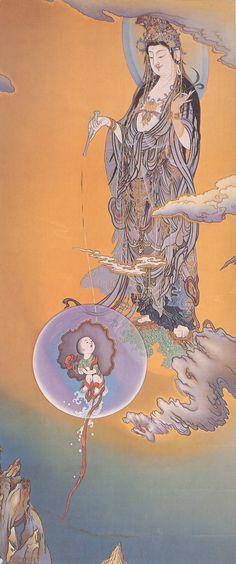 _ Chinese Buddha, Chinese Art, Tibetan Art, Buddha Art, Taoism, Guanyin, Japan Art, Chinese Painting, Religious Art