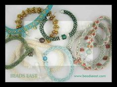 Bead Crochet basics Beads East - printable pdf for right hand or left hand tubular bead crochet as well as the invisible join for bracelets. For PDFs go directly to http://www.beadseast.com/beadcrochet.html #seed #bead #tutorial