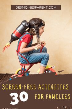 30 Screen-Free Activities for Families Indoors & Outdoors! Stem Projects For Kids, Indoor Activities For Kids, Activities To Do, Friendly Letter, Try To Remember, Go Camping, Clean House, Families, Outdoors