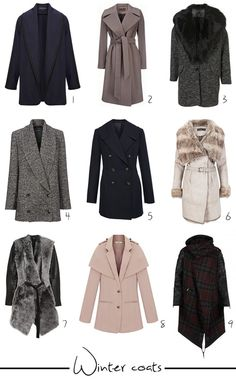 What's your winter coat style? www.annjaneliving.com