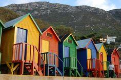 Jamaican Beach Huts  -- color